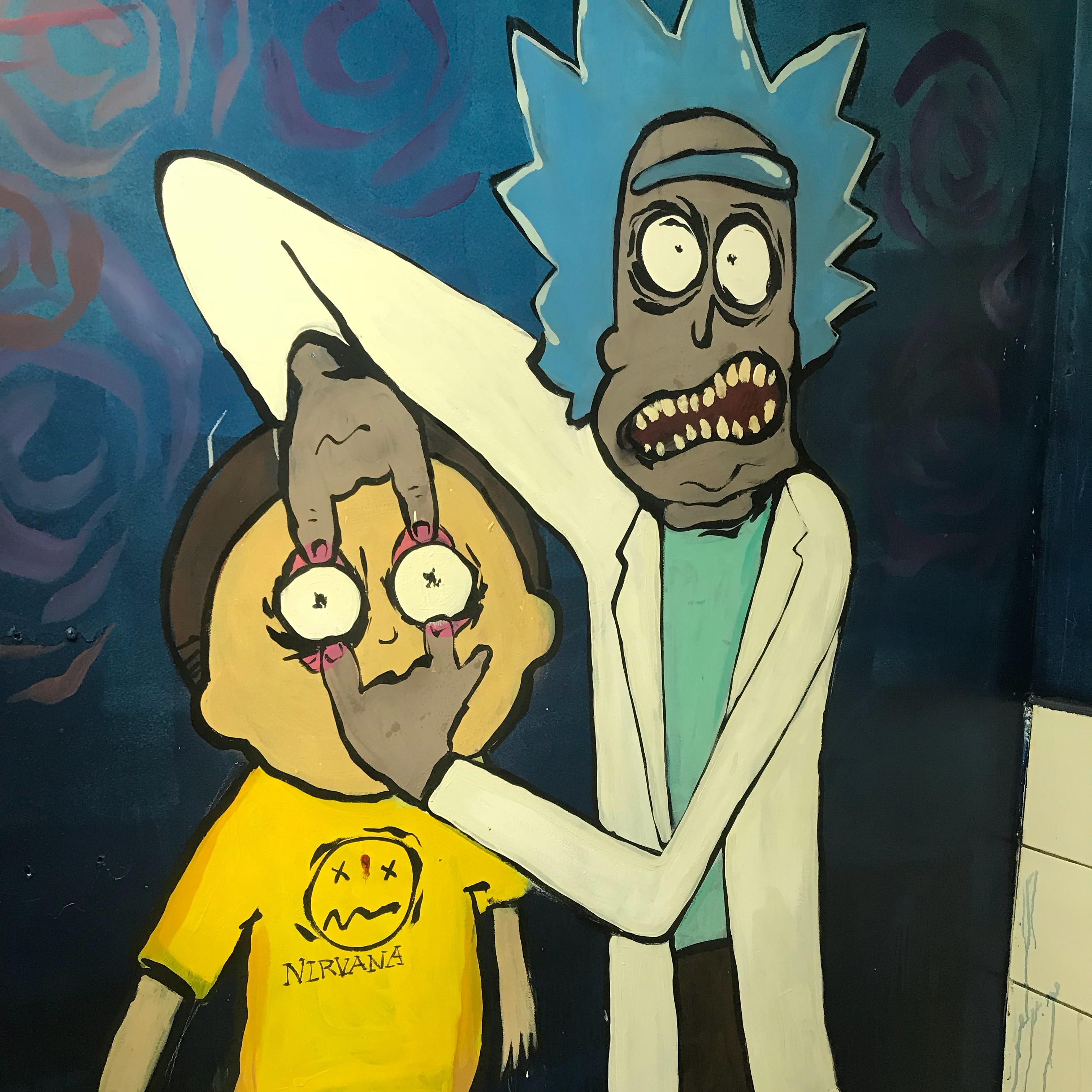 Rick + Morty Bathroom