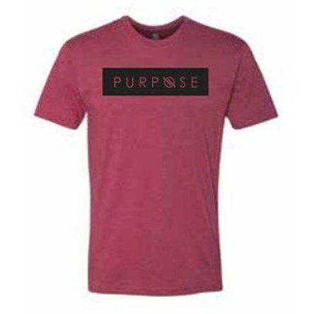 Purpose Tee Maroon