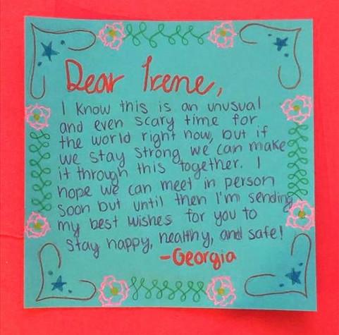 Card for Irene