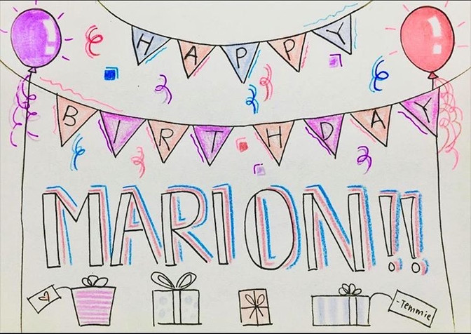 Card for Marion