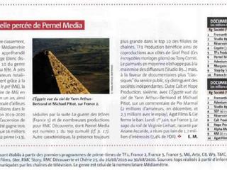 Top 10 du documentaire : Pernel Media n°1 pour RMC Découverte et belle percée dans le classement par