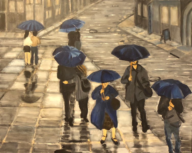 Blue Umbrellas II