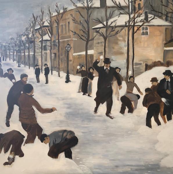 Snowball Fight 19th Century
