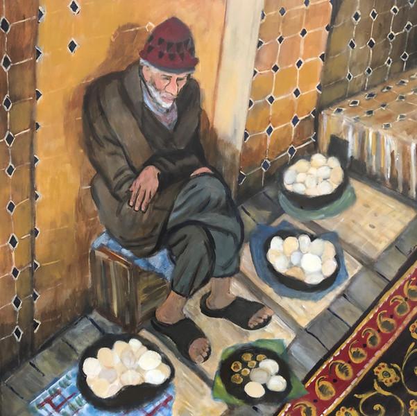 Egg Peddler at the Bazaar