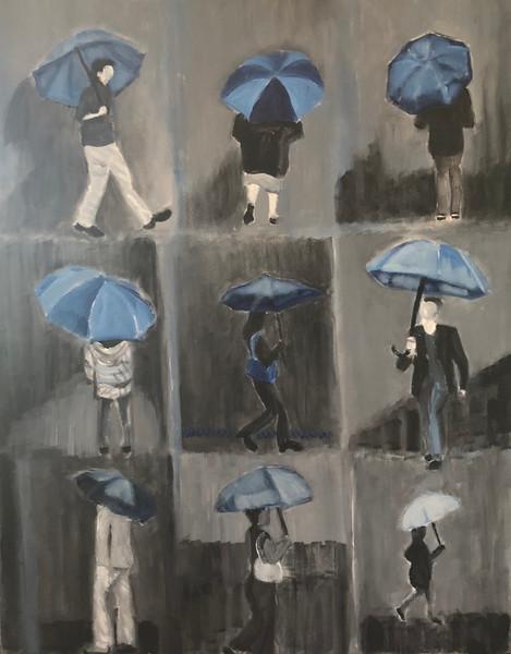 blue umbrellas III