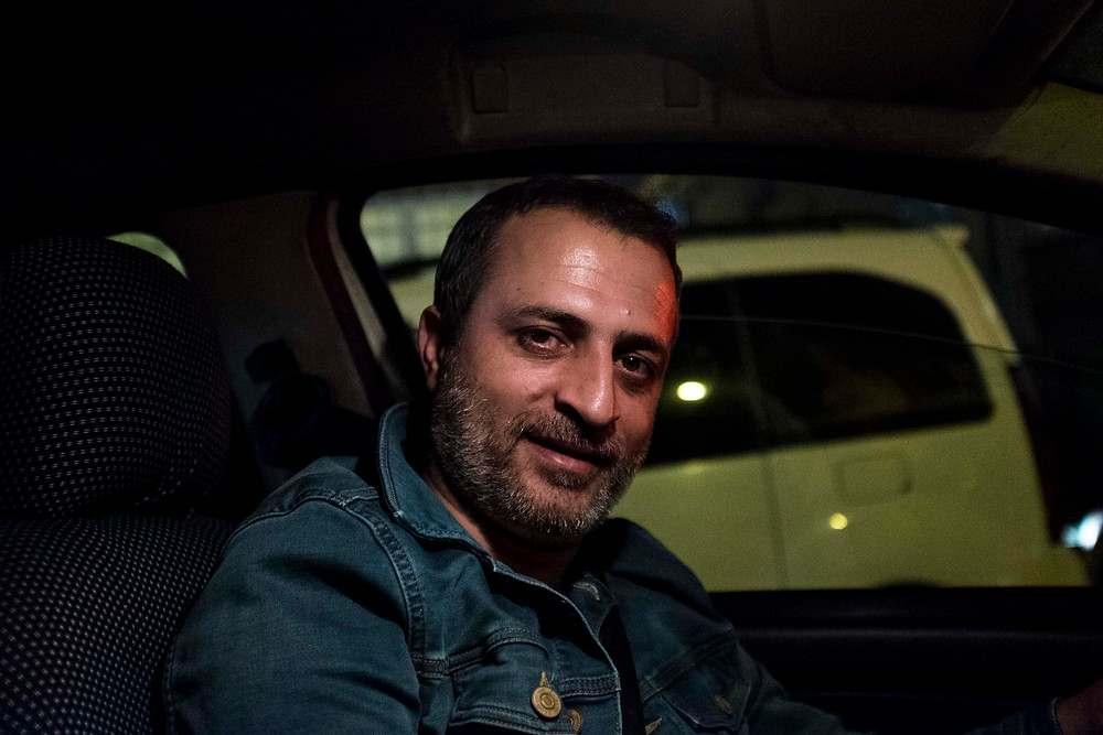 Taxi driver in Istanbul cab
