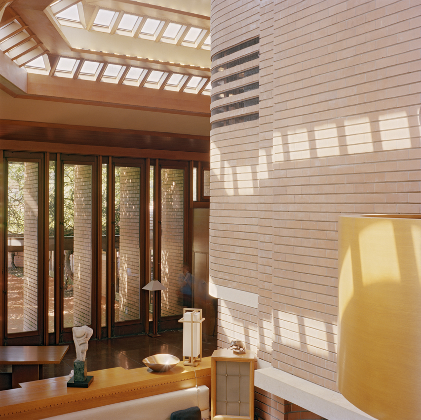 """Interior of Wright's """"Wingspread"""" house"""