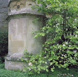 Lacock Abbey, corner foundation