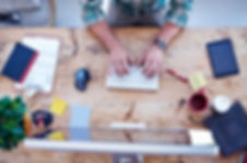 Man Working at a Desk