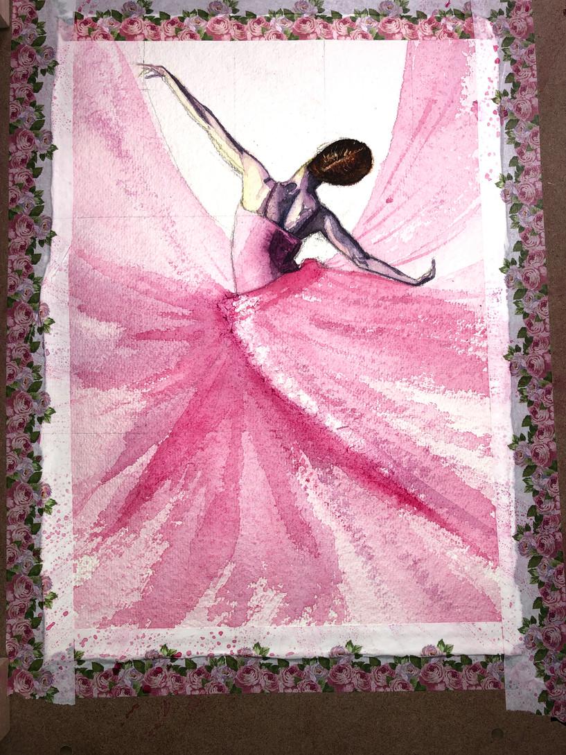 Dancer Watercolour