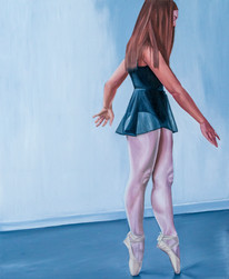 on-pointe oil on canvas