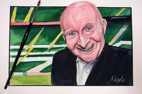 Jimmy (Jinky) Johnstone original watercolour painting A4