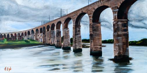 royal border bridge, acrylic on canvas