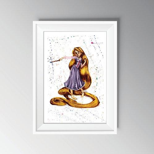 Rapunzel Watercolour Print
