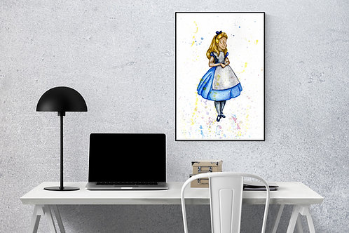 Alice A4 watercolour print