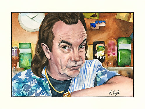 """Original Boaby Still Game watercolour painting 9x12"""""""