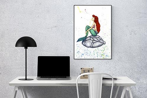 Ariel Watercolour Print
