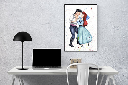 Ariel and Eric Watercolour Print