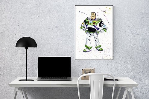 Buzz Lightyear Toy Story A4 watercolour print