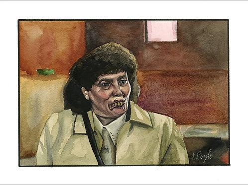 "Original Edith Still Game watercolour painting 9x12"""