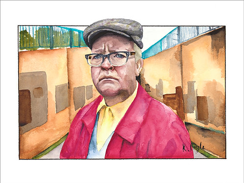 Original Winston Still Game watercolour painting 9x12""