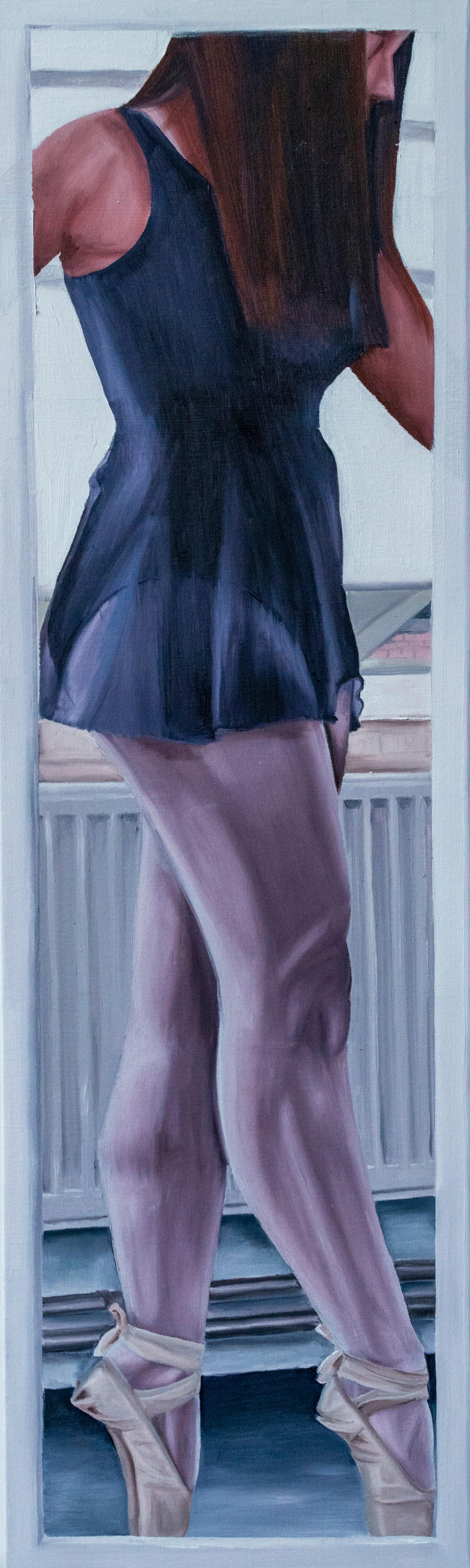 reflection of on-pointe, oil on canvas