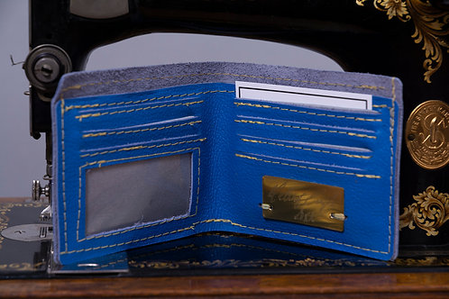Royal Blue Waste not, Want not, Genuine leather wallet