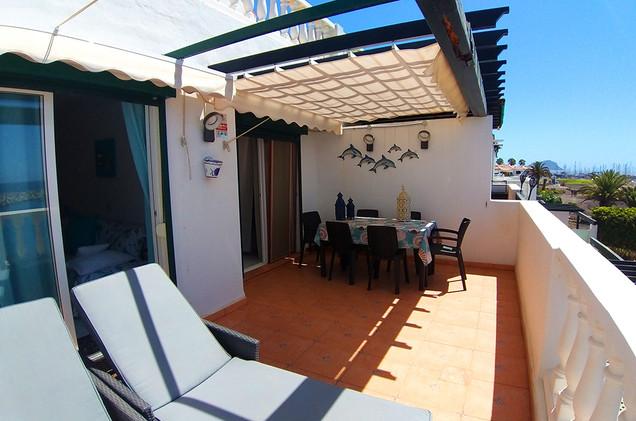 All day sun on the terrace
