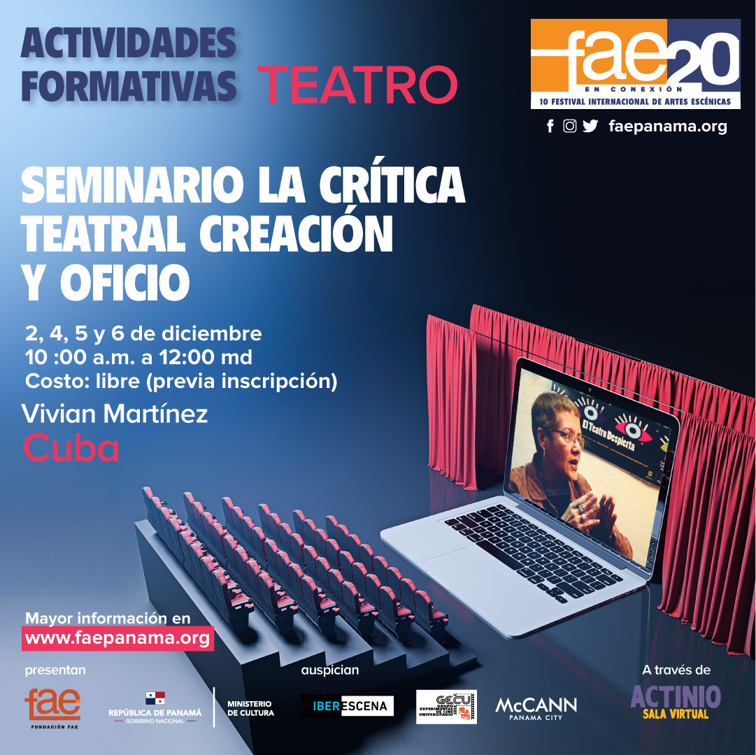 Seminario la crítica teatral, creación y oficio.