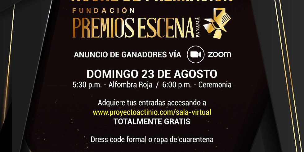 NOCHE DE PREMIACIÓN - Premios Escena