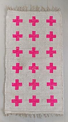 Rug Cross pink
