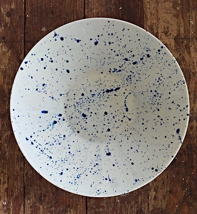 Porcelain bowl large blue