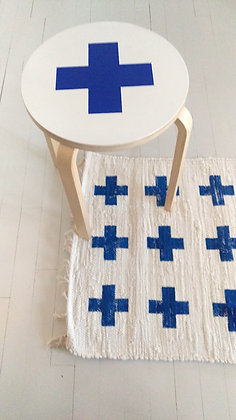 Rug Cross blue
