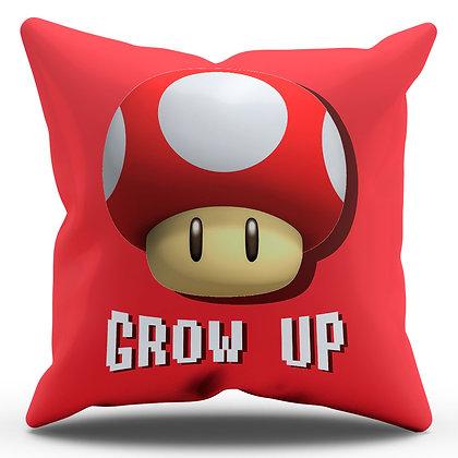 """Almofada Personalizada Super Mario - """"Grow Up"""""""