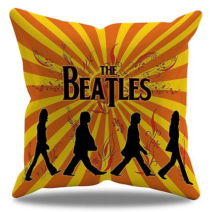 Almofada Personalizada Beatles Fundo Vintage
