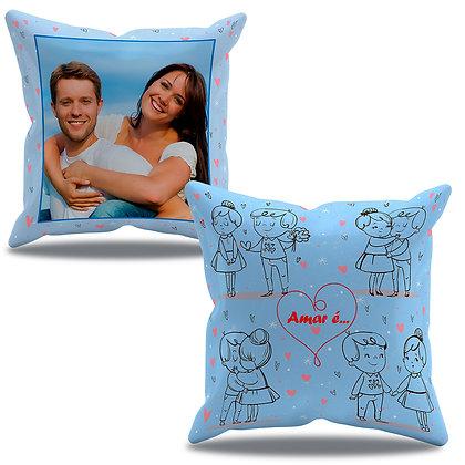 Almofada Personalizada O Amor é... Azul