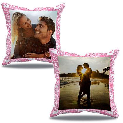 Almofada Personalizada Amor - Namorados com 2 fotos