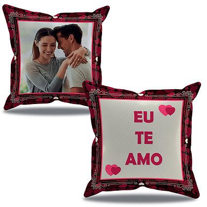 Almofada Personalizada Amor - Eu te amo - Preta e bordô
