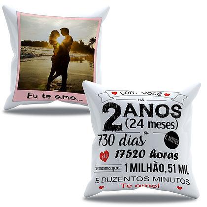 Almofada Personalizada Amor - Aniversário de 2 anos de namoro