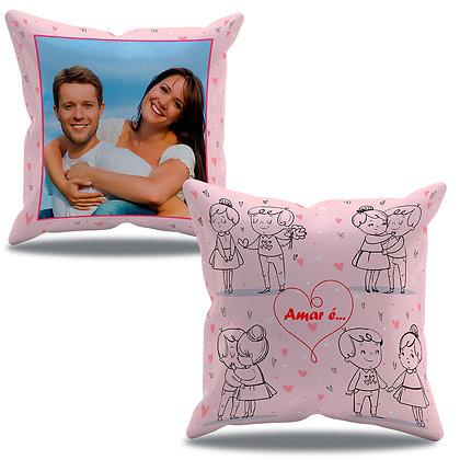 Almofada Personalizada O Amor é... Rosa