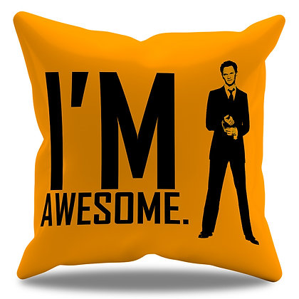 "Almofada Personalizada How I Met Your Mother - Modelo 6 - Barney ""I´m Awesome"""