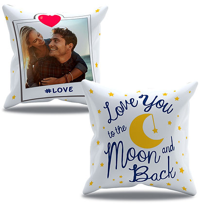 Almofada Personalizada Amor - Love you to the Moon and Back