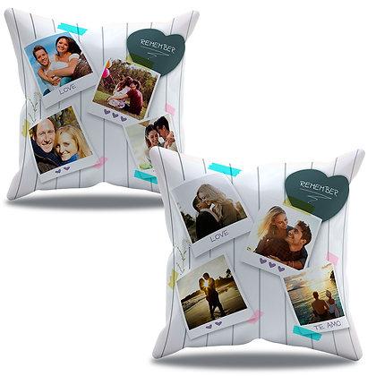 Almofada Personalizada Amor - Namorados com 8 fotos polaróide