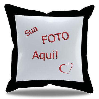 Almofada Personalizada com Foto e Borda Preta