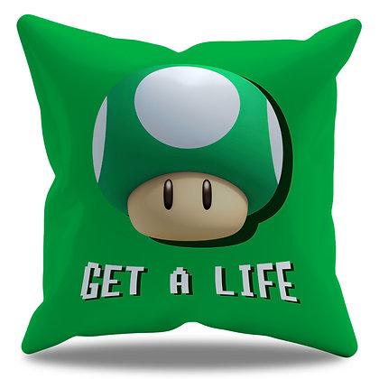 """Almofada Personalizada Super Mario - """"Get a Life"""""""