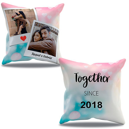 Almofada Personalizada Amor - Together Since