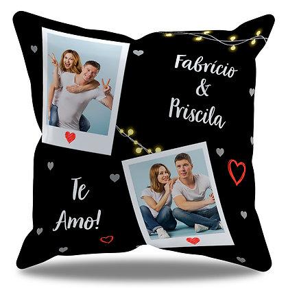 Almofada Personalizada Amor - Te amo + nome casal