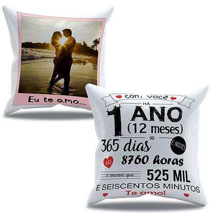 Almofada Personalizada Amor - Aniversário de 1 ano de namoro