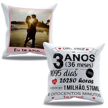 Almofada Personalizada Amor - Aniversário de 3 anos de namoro