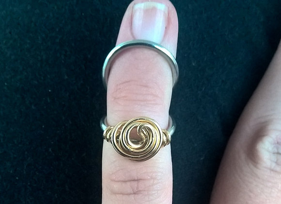 Swan Neck Golden Rose Ring Splint